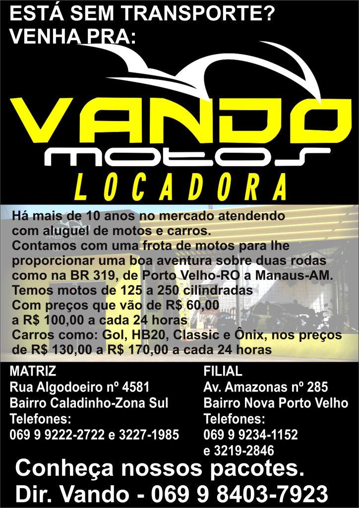 VANDO MOTOS - PORTO VELHO-RO.