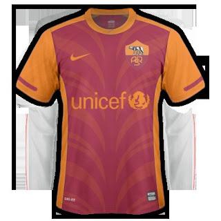 gambar jersey as roma home terbaru musim 2015/2016, harga jersey musim depan
