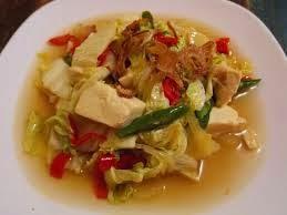 Cara memasak Kuah Tahu Sawi Putih praktis dan gampang mudah