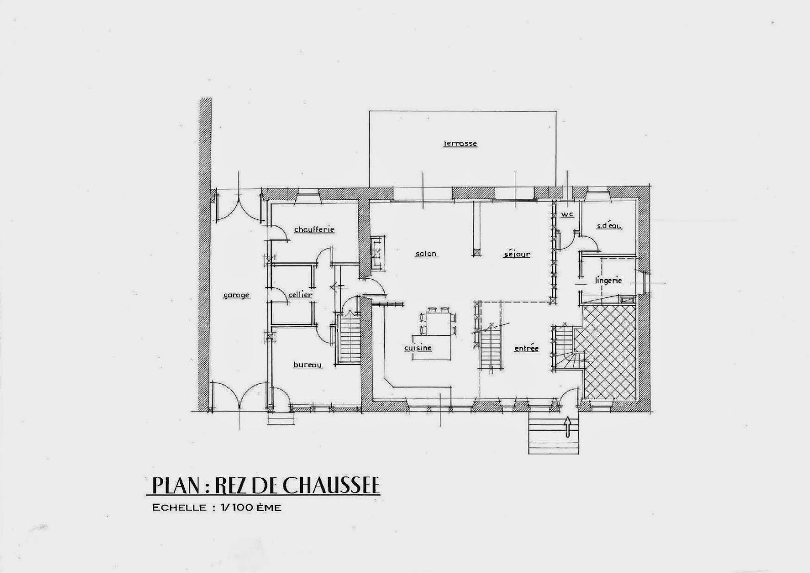 Stunning plan de maison moderne darchitecte gratuit with for Plan maison 1 chambre