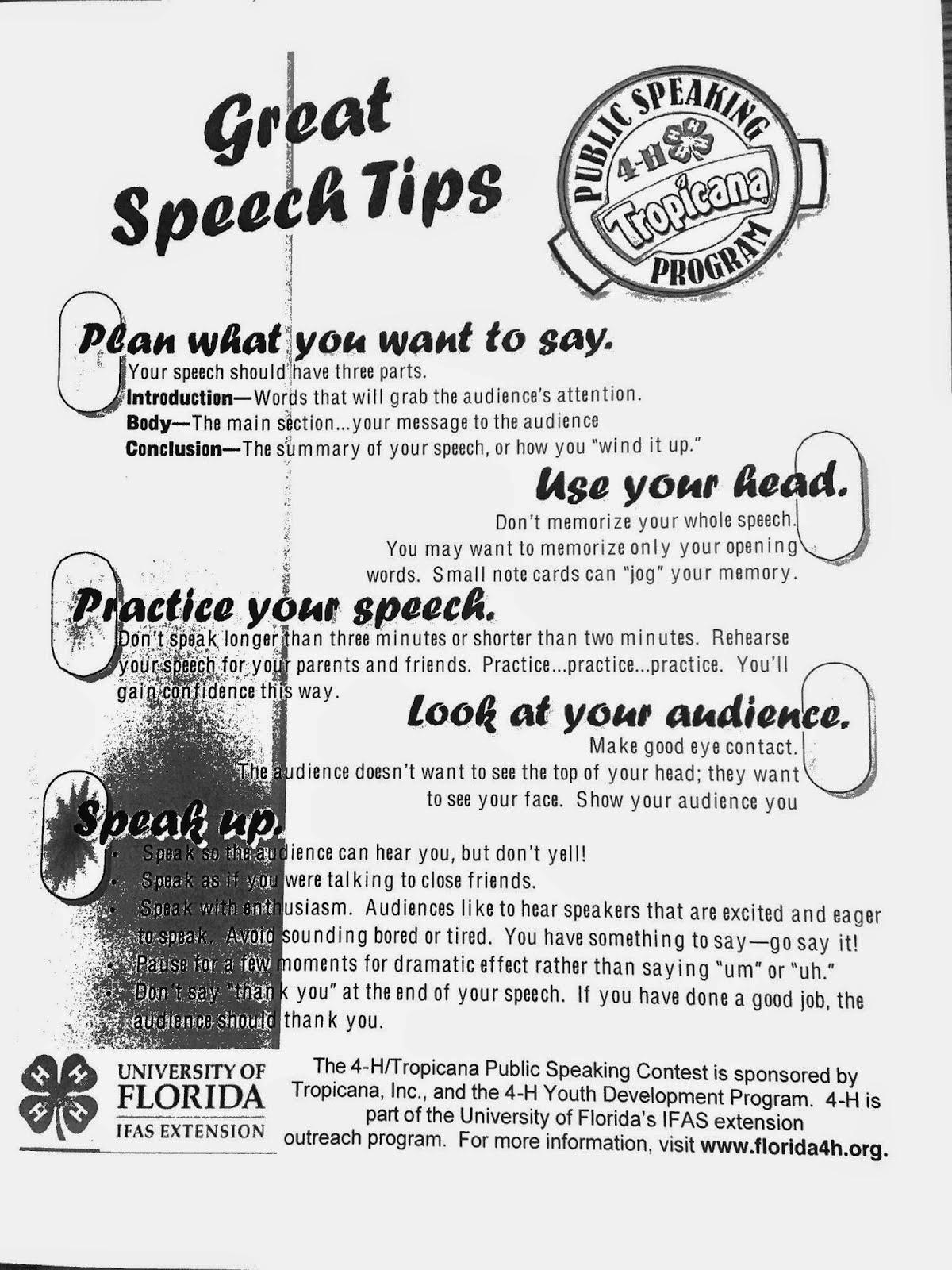 Speech writing assistance