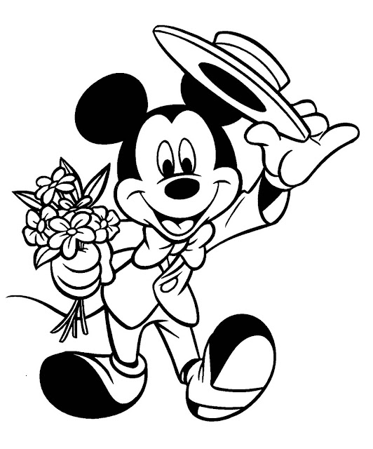 Dibujos de Mickey Mouse Para Imprimir y colorear