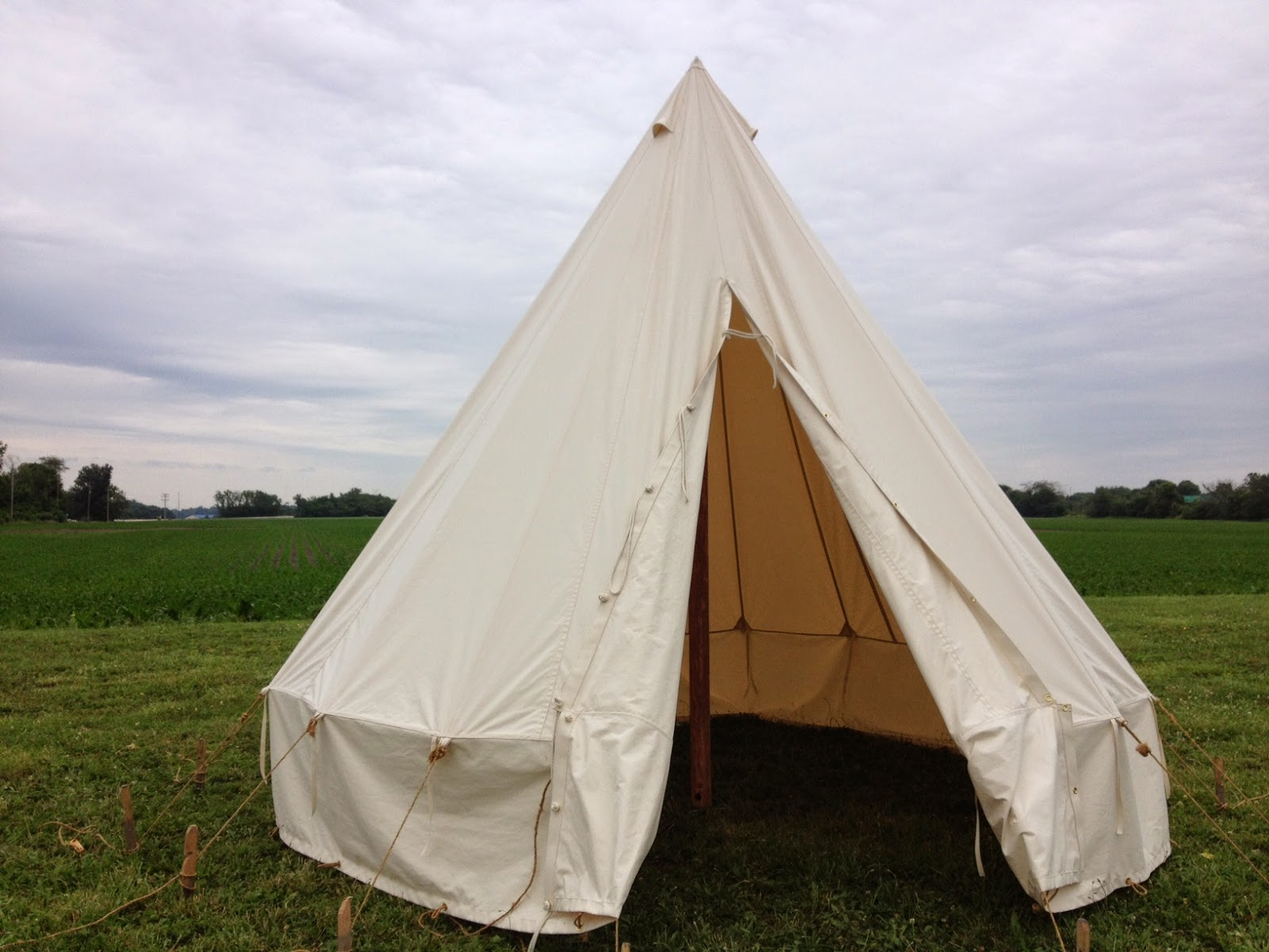 British Commonwealth Bell Tent u2013 $1300. Wooden Pole and stake kit; $275. Splicer for Center Pole $50 & Armbruster Manufacturing Co. | World War One Tent Pricing