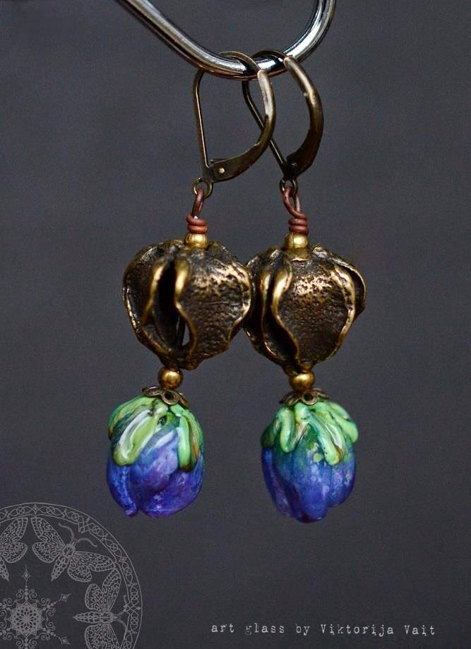handmade lampwork beads jewelry earrings