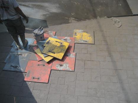 Como hacer pavimentos de hormigon impreso aprender hacer - Hormigon decorativo para suelos ...