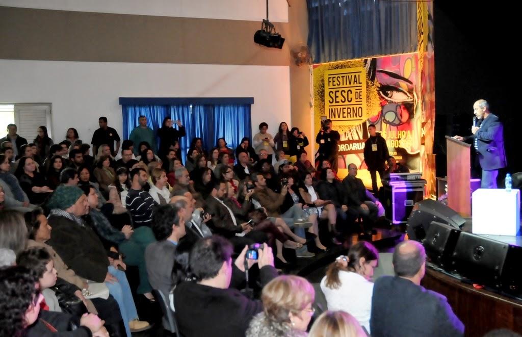 A Casa de Cultura ficou lotada para a abertura do festival