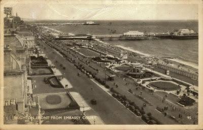 Brighton front postcard 1940