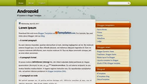 Androzoid - Free Blogger Template