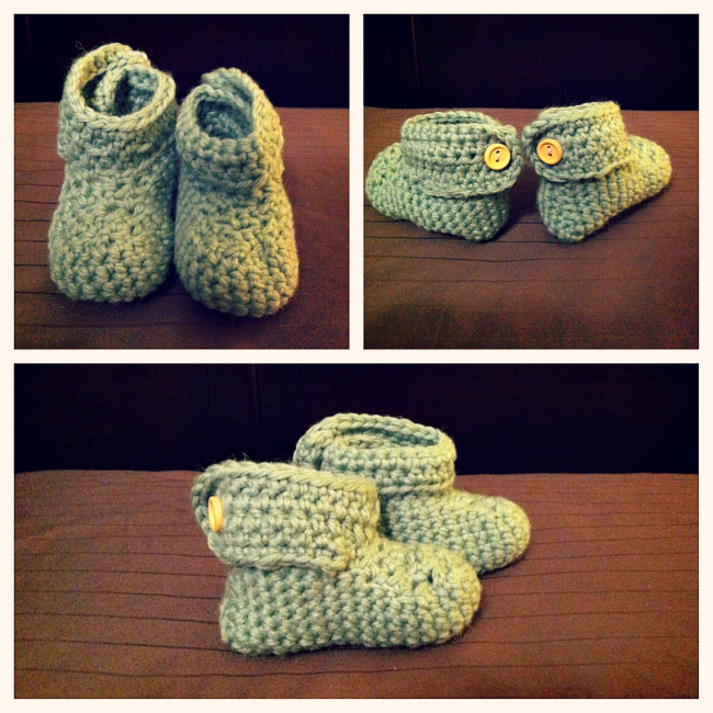 Crochet Baby Booties from @meetmakelaugh