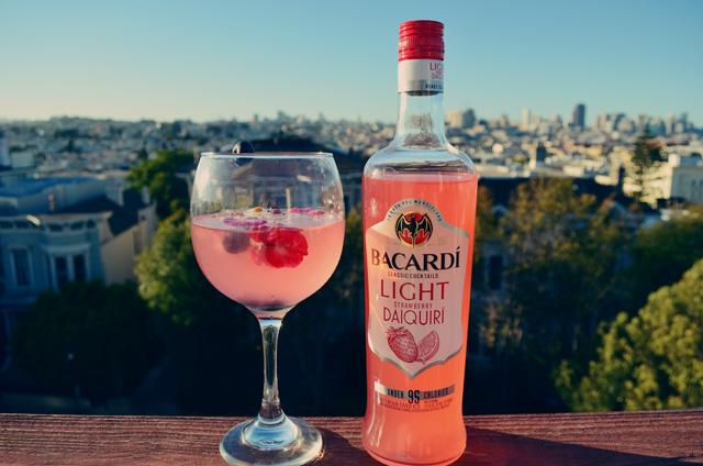 Bacardi classic cocktails light strawberry daiquiri