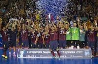 FÚTBOL SALA-Lozano impulsa al Barça para ganar la Supercopa