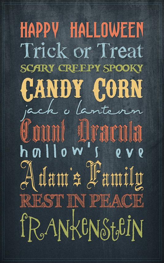 Inspird Free Scrapbooking Fonts For Halloween
