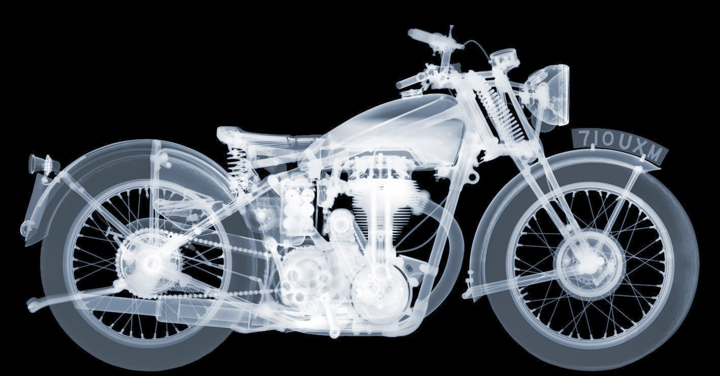 01-Matchless-Motorbike-Nick-Veasey-X-ray-Images-Mechanical-Musical-www-designstack-co