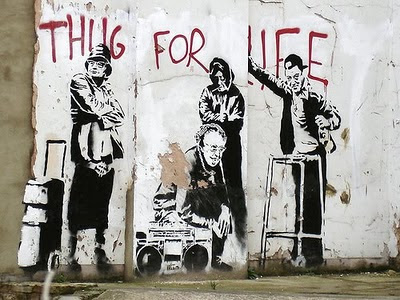Think For life - graffiti branksy Hip HOP music