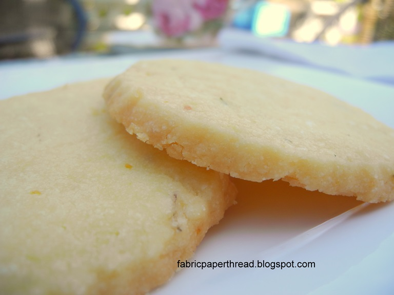 Pass to the Left: Orange Thyme Shortbread