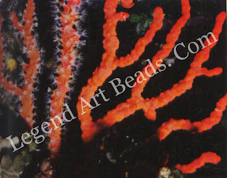 Skeleton of red coral Below Figurine in red coral