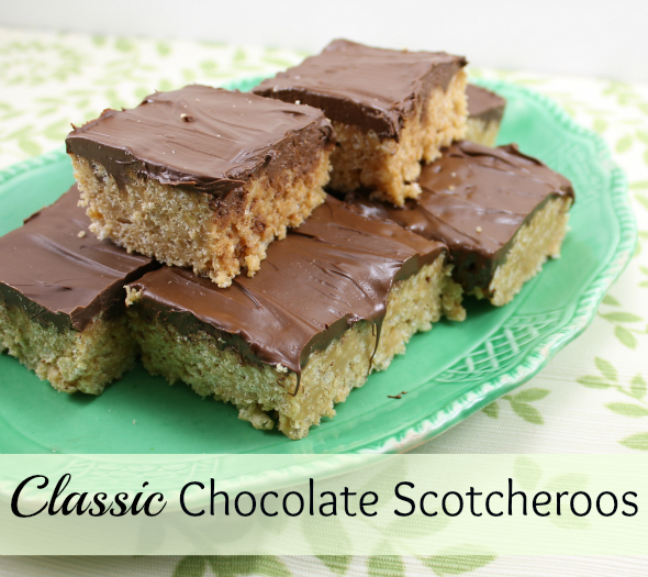 Classic Chocolate Scotcheroos from @whatchamakinnow