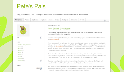 Pete's Pals Web Site Owner Support System
