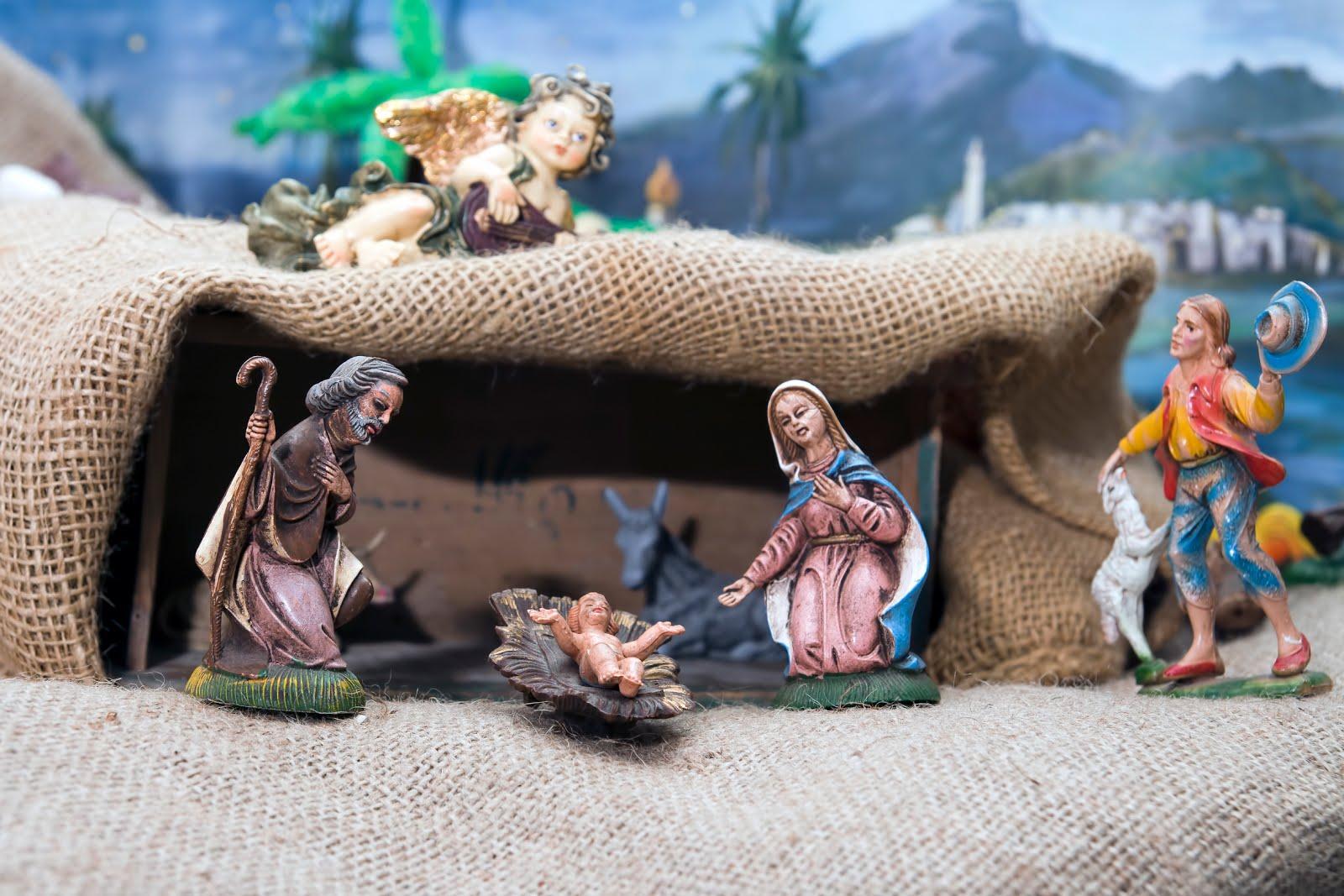 Nacimiento del niño Jesús en una hermosa representación