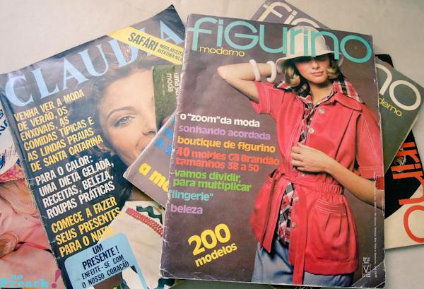 revistas de moda antiga - anos 70 - Claudia e Figurino