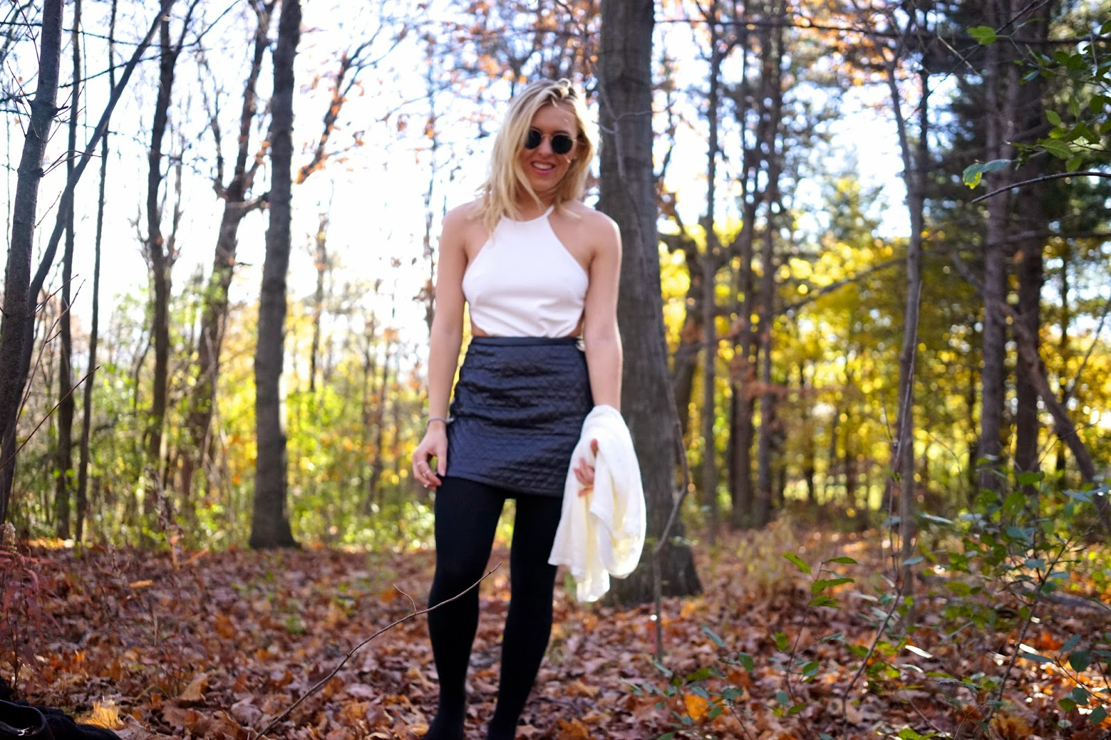 nicole x missguided quilted skirt