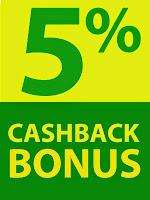 CASHBACK BONUS 5%