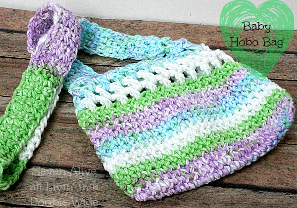 Crochet Hobo Bag Pattern : Baby Hobo Bag Crochet Pattern - Seven Alive