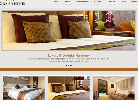 Grand Hotel - Resorts Business WordPress Theme
