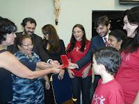 Fórum dos concelhos escolares, recebendo a medalha PAULO FREIRE.