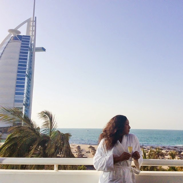 Chika Ike Currently on Vacation in Dubai
