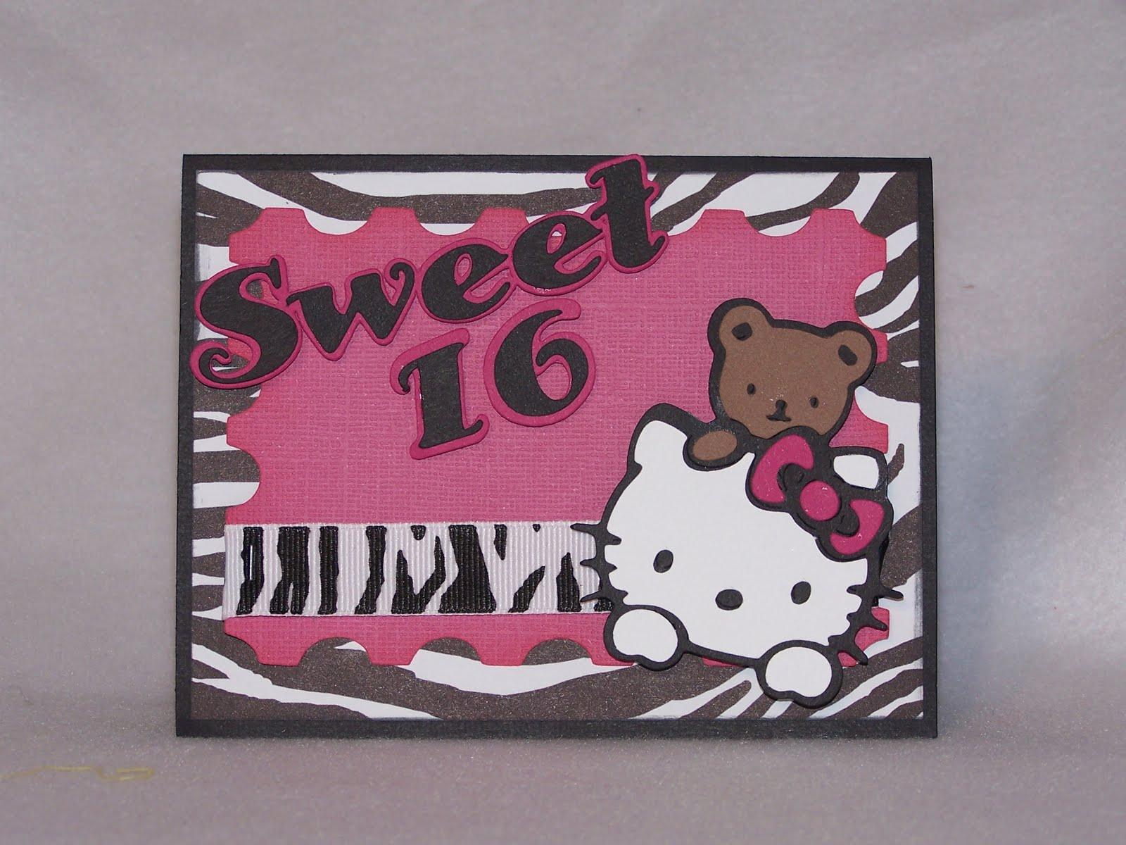 The Crafty Mermaid Hello Kitty Sweet 16 Invitation