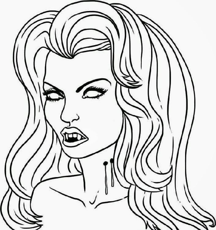 Hello kitty face coloring pages print for Halloween vampire coloring pages