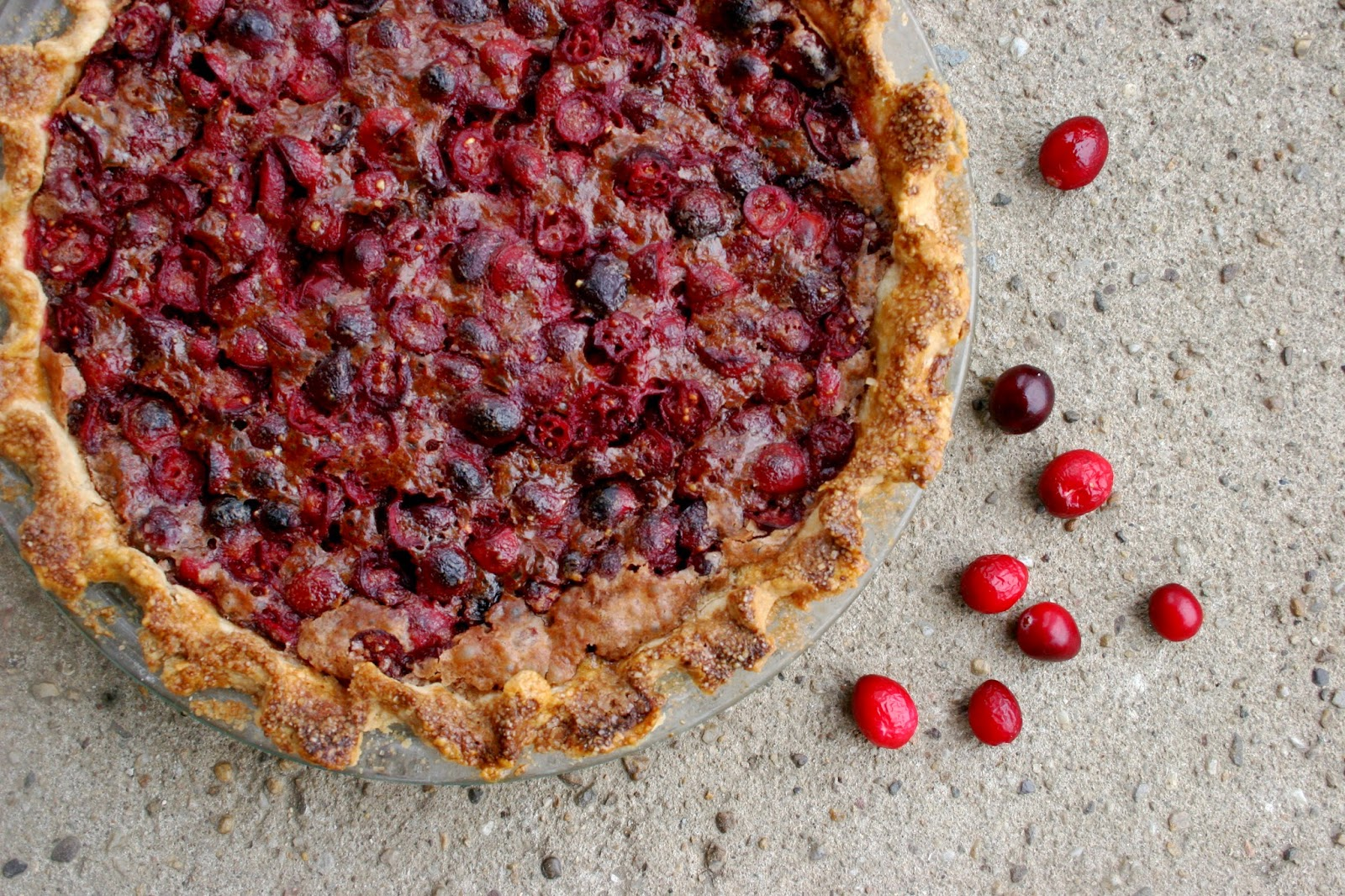 Cranberry Chocolate Cheese Pie