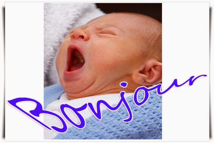 Photo bébé nouveau-né bonjour