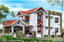 2401 Square Feet Nice House Renderings - Kerala Home