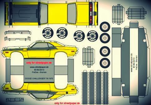 Modelo Dodge Chalenger de 1970