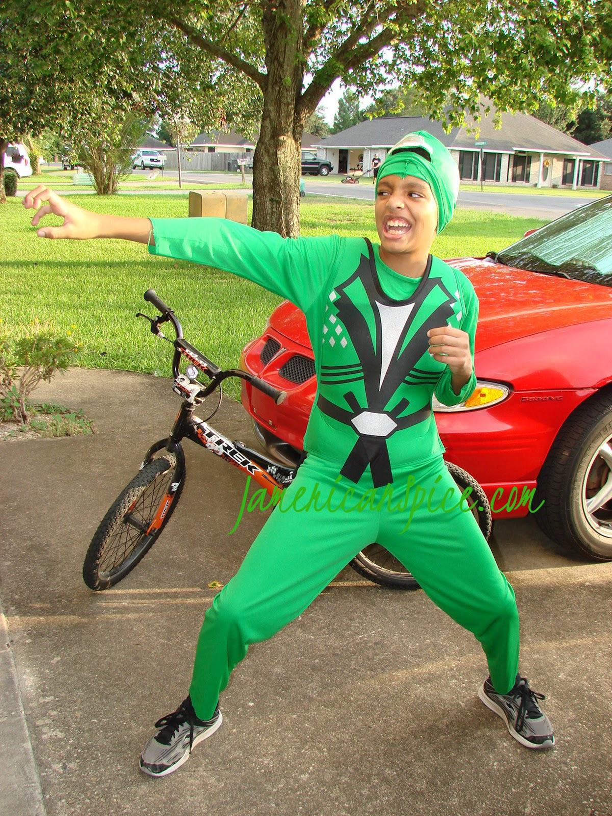 My son loves his ninja costume he loves ninja everything!  sc 1 st  JamericanSpice : green ninja avenger costume  - Germanpascual.Com