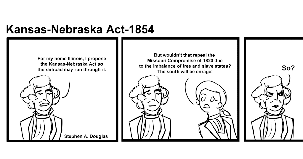 the kansas nebraska act essay Read this full essay on the kansas-nebraska act  in 1854, senator stephen  douglas from illinois proposed a bill to organize the vast nebraska territory west.