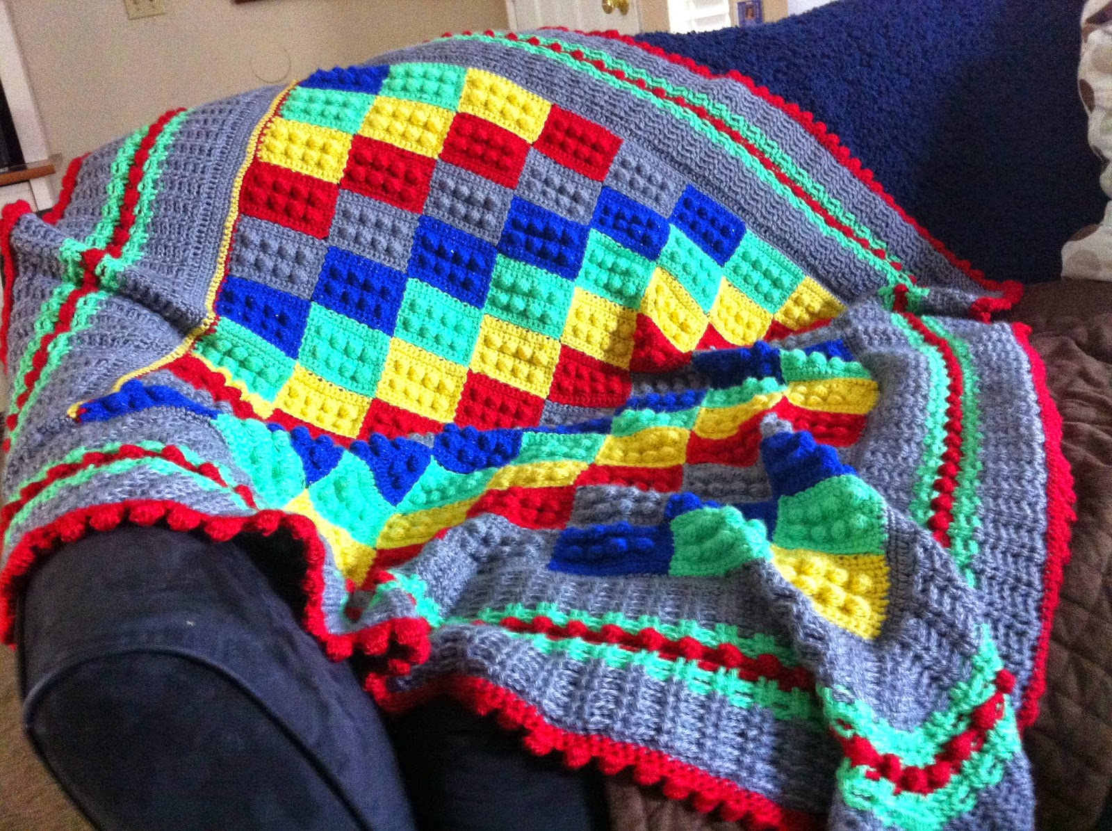 Crochet Lego Blanket : The Woobie Boutique: The Lego Blanket