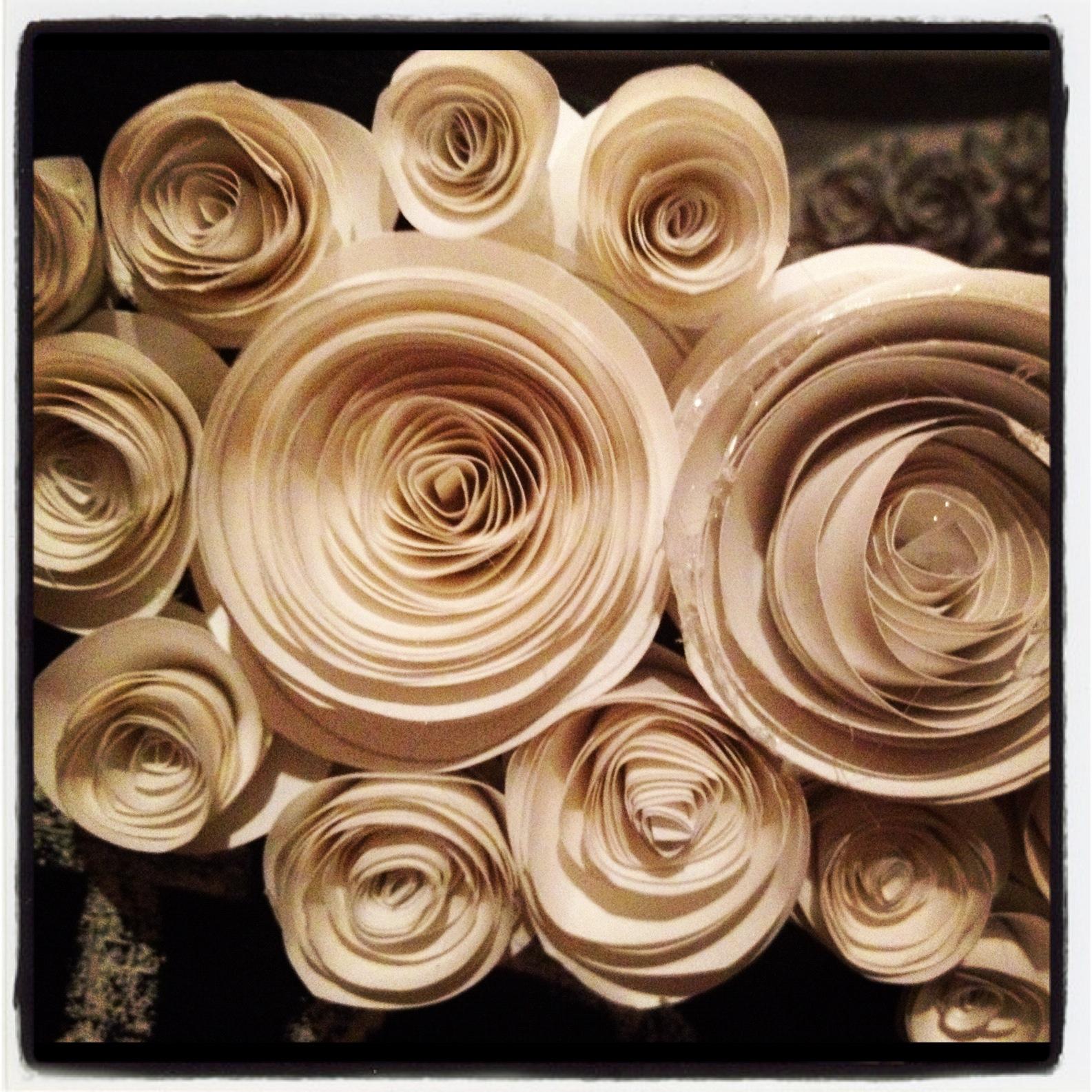 Pancakes Glue Guns Diy Swirl Paper Flowers
