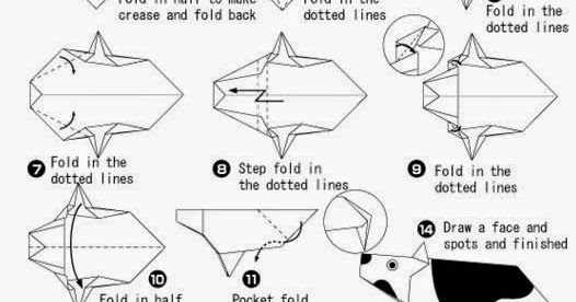 origami cow instructions art project ideas crafts