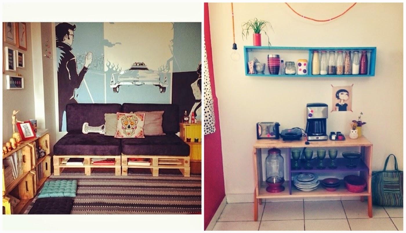 ambiente com caixotes e pallets @meumoveldemadeira e catinho acolhedor e criativo @dcoracao