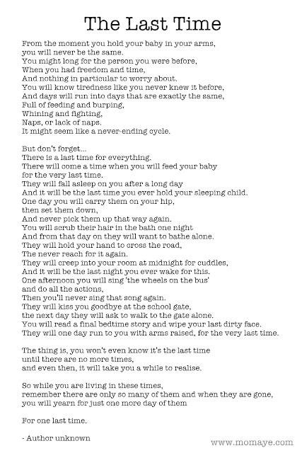 poem, the last time poem