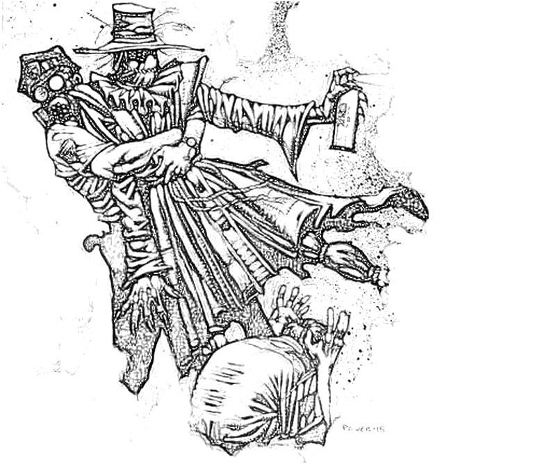 printable-batman-arkham -city-riddler-scarecrow-poison-coloring-pages