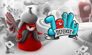 Screenshots of the Jelly Defense for Android tablet, phone.