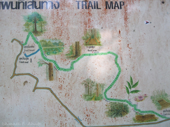 Trail map for Phukhieo Wildlife Park
