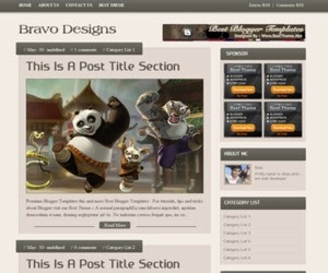 Bravo Design Blogger Template