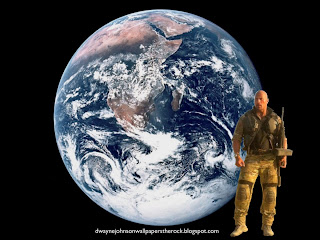 Dwayne Johnson Desert Clothing The Rock at Planet Earth seen from space desktop wallpaper