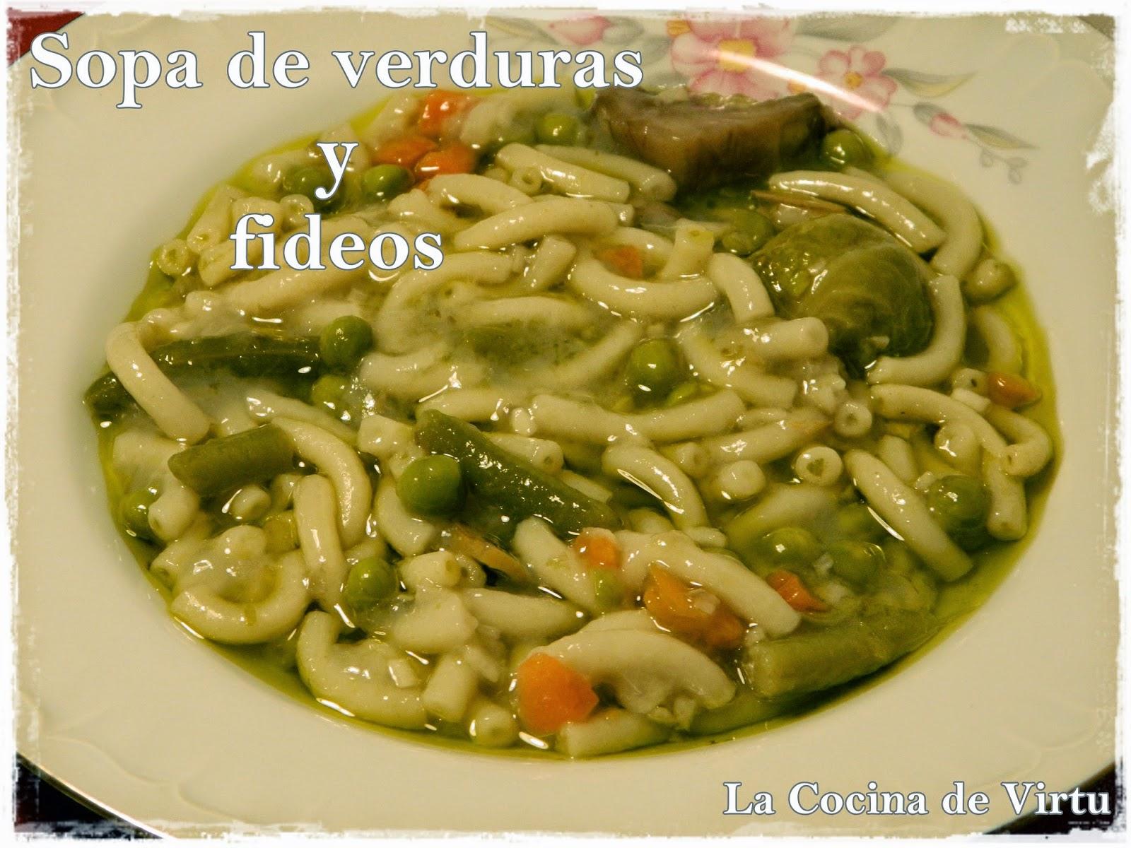 Sopa de verduras cocinar en casa es for Cocinar con cookeo