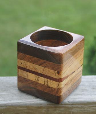 wood pencil cup